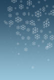 снежок 2 хлопьев Стоковое Изображение