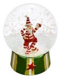снежок claus стеклянный santa шарика прозрачный стоковое фото rf