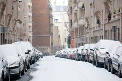снежок paris Стоковая Фотография RF