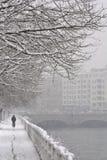 снежок riding вниз стоковое фото