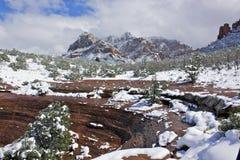 снежок sedona az стоковое изображение