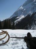 снежок tirol Тироль ботинка Стоковое фото RF