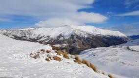 снежок zealand гор новый Стоковое Фото