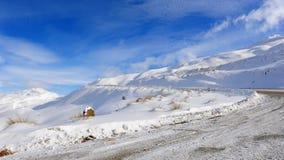 снежок zealand гор новый Стоковая Фотография