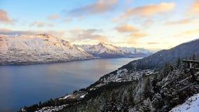 снежок zealand гор новый Стоковая Фотография RF