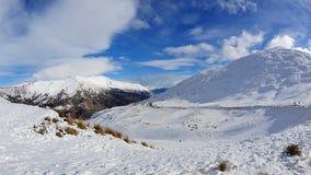 снежок zealand гор новый Стоковые Фотографии RF