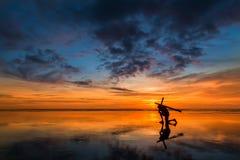 Снесите ваш перекрестный заход солнца Стоковая Фотография