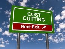 Снижение затрат, следующий выход стоковые фото