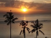 снова Очень красивый восход солнца на sanur Стоковое фото RF