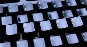 Сновидение сказанное по буквам вне на клавиатуре Стоковое фото RF