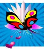 сновидение 2 бабочек иллюстрация штока