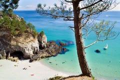 сновидение brittany пляжа Стоковое Изображение