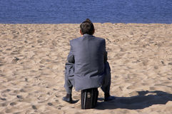 сновидения бизнесмена Стоковое фото RF
