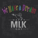 сновидение имеет I счастливый Мартин Лютер Кинг Стоковое фото RF