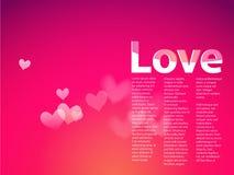 Сновидение с сердцами на розовой предпосылке градиента. бесплатная иллюстрация
