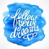 сновидения следуют за вашим Стоковое Фото