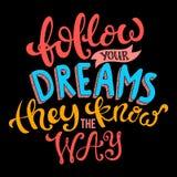 сновидения следуют за вашим Стоковые Изображения RF