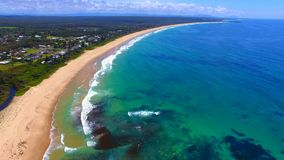 Сногсшибательная антенна одного пляжа мили акции видеоматериалы