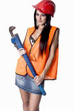 Сногсшибательная женская промышленная модель Стоковая Фотография