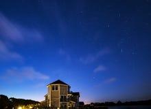 Сногсшибательное изображение ландшафта астрофотографии ночного неба ove звезд стоковая фотография rf
