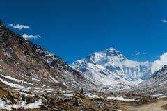 Сногсшибательный взгляд северной стороны горы everest, Тибета Стоковое фото RF