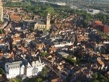 Сногсшибательный вид с воздуха бельгийского городка стоковая фотография rf