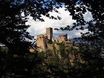 Сногсшибательный замок увиденный через ветви дерева Стоковое Фото