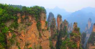 Сногсшибательный ландшафт, Zhangjiajie Китай Стоковое фото RF
