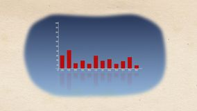 Сногсшибательный перевод 3d столбчатой диаграммы с покрашенными линиями переносить в красные одни и изменять вверх и вниз между о бесплатная иллюстрация