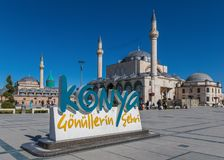Сногсшибательный старый городок Konya, Турции стоковая фотография