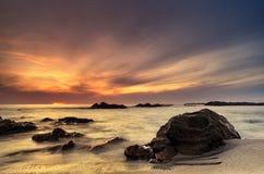 Сногсшибательное светлое место пляжа Стоковые Изображения RF