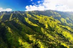 Сногсшибательный вид с воздуха эффектных джунглей, Кауаи стоковые фотографии rf