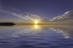 Сногсшибательный заход солнца Стоковые Изображения RF
