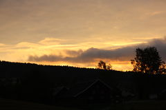 Сногсшибательный заход солнца Стоковая Фотография RF
