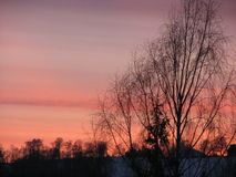 Сногсшибательный заход солнца Стоковая Фотография