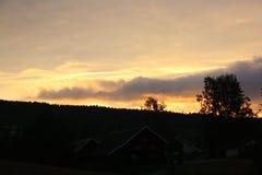 Сногсшибательный заход солнца Стоковое Изображение RF