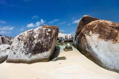 Сногсшибательный пляж на Вест-Инди Стоковая Фотография RF