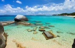 Сногсшибательный пляж на Вест-Инди Стоковое Изображение RF