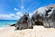 Сногсшибательный пляж на Вест-Инди Стоковые Изображения RF
