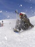 сноубординг горы Стоковая Фотография