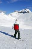 Сноубординг гор Стоковая Фотография