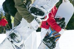 сноубординг Стоковая Фотография