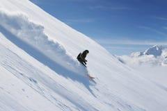 сноубординг freeride Стоковая Фотография