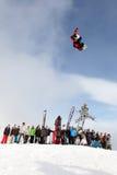 сноубординг vancouver quiksilver в марше comp 28 Стоковая Фотография