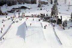 сноубординг vancouver quiksilver в марше comp 28 Стоковые Фото