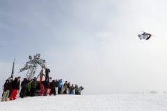 сноубординг vancouver quiksilver в марше comp 28 Стоковые Фотографии RF