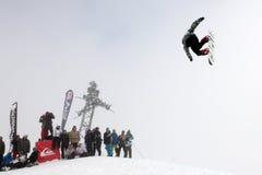 сноубординг vancouver quiksilver в марше comp 28 Стоковое Изображение
