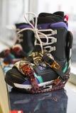 Сноуборд с ботинками Стоковое Изображение