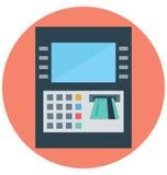 снятие наличных, кредитная карточка, изолированные значки вектора которые можно легко доработать или редактировать иллюстрация штока