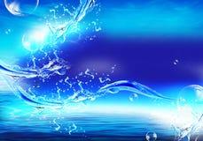 снято брызгающ воду Стоковые Изображения RF